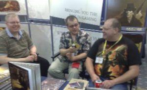 Photo of BigJackBrass Interviewing Dave Blewer and Robin Elliot