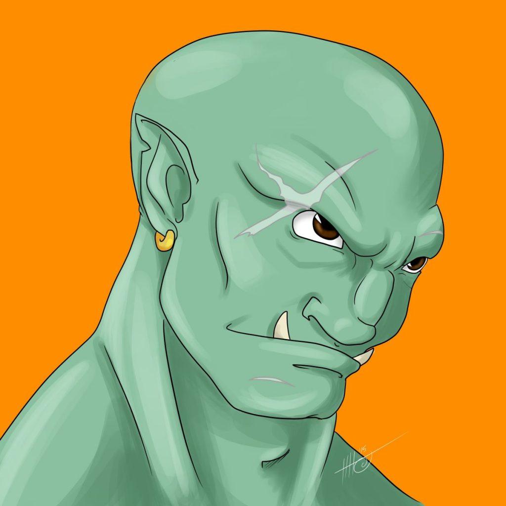 Goram, the Half-Orc Fighter